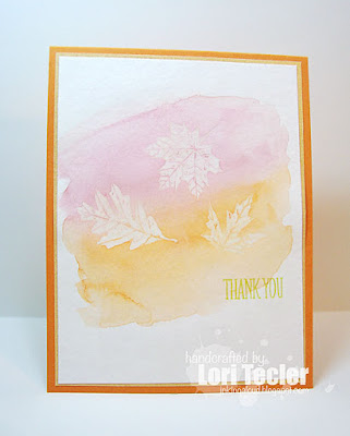 Fall Thank You card-designed by Lori Tecler/Inking Aloud-stamps from Papertrey Ink