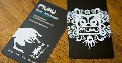 tarjeta de visita blanco y negro