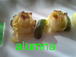 Patatas con forma de rosas