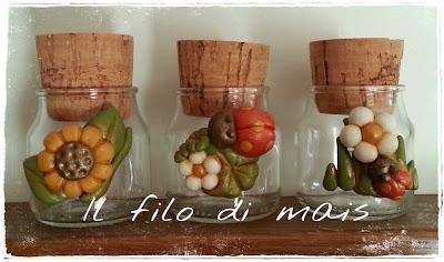 Il filo di mais di chiara gloria e daniela vasetti - Vasetti di vetro decorati ...