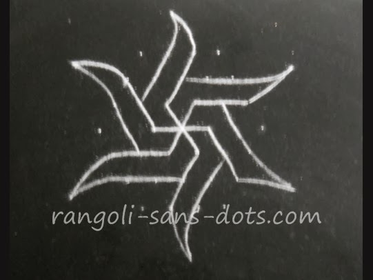 Simple Kolam With Dots Kolam By Sudha Balaji | Download Gambar