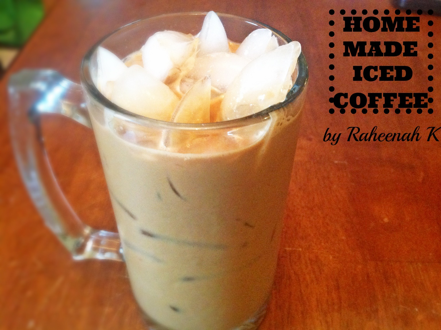 how to make iced coffee homemade