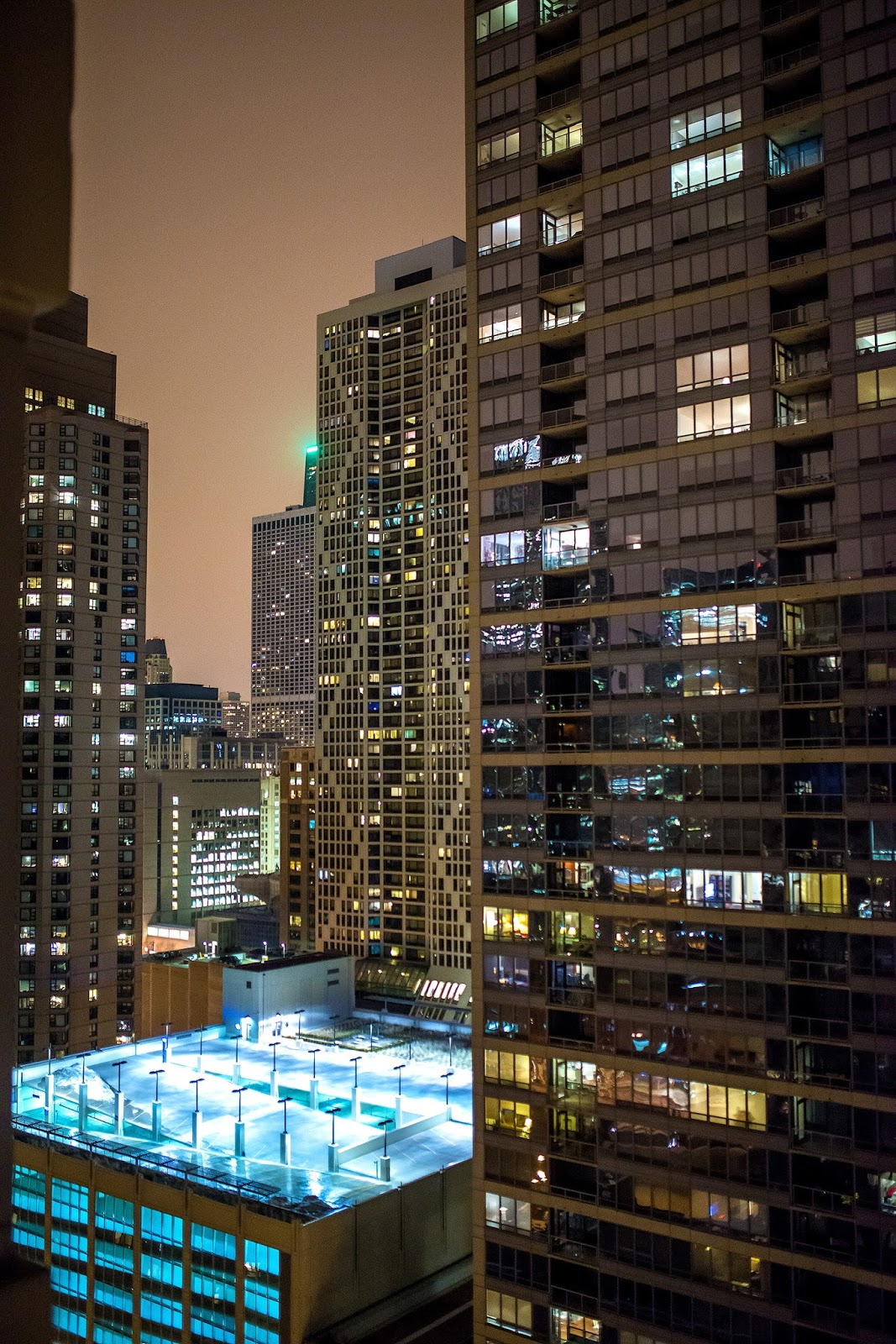 Chicago Night Photography Rooftop