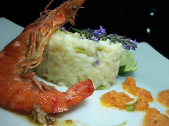 king prawn and caribean rice