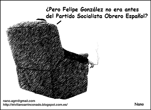 el villano arrinconado, humor, chistes, reir, satira, Felipe González