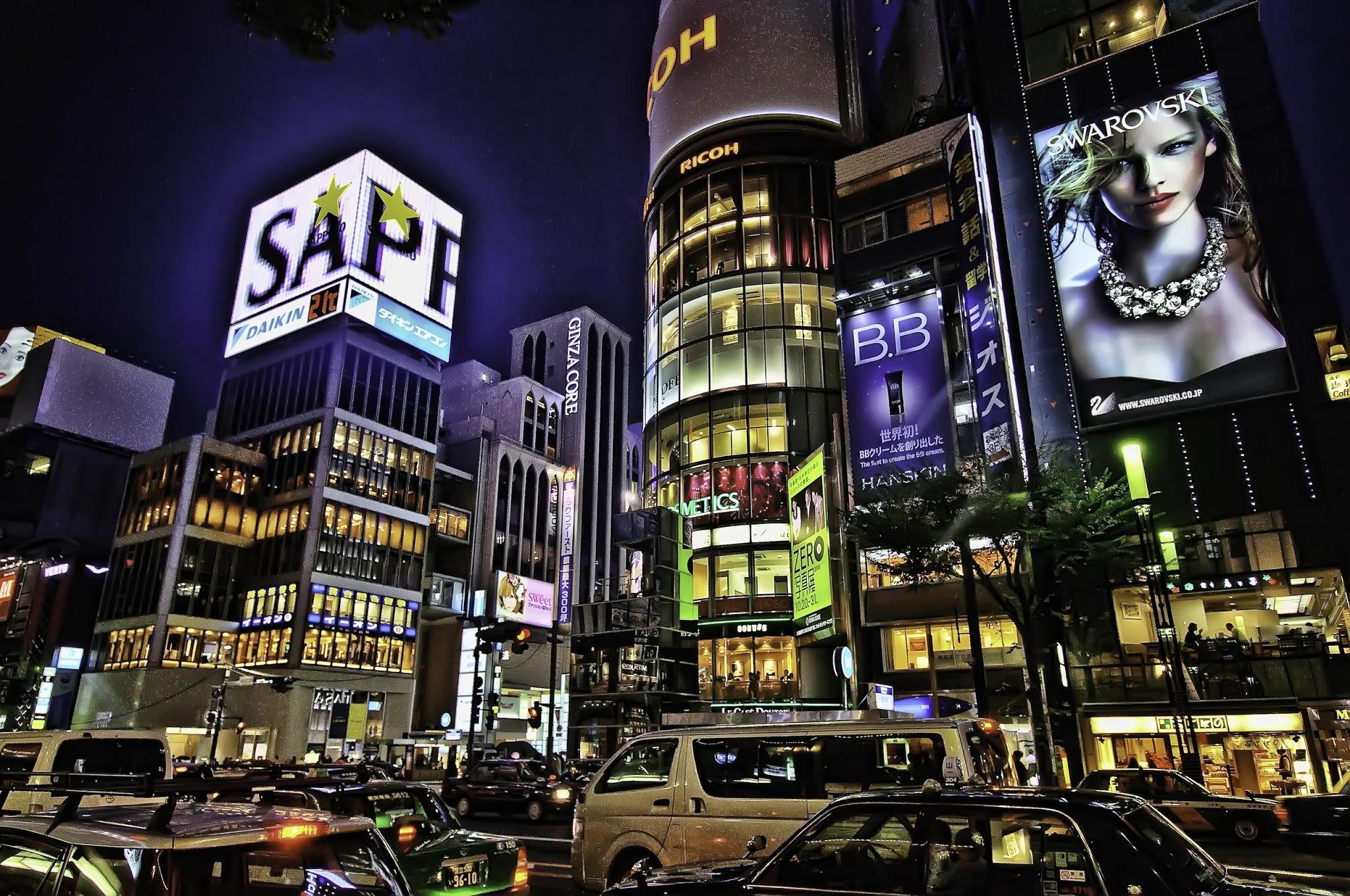 東京の壁紙(夜のもの、夜景など)