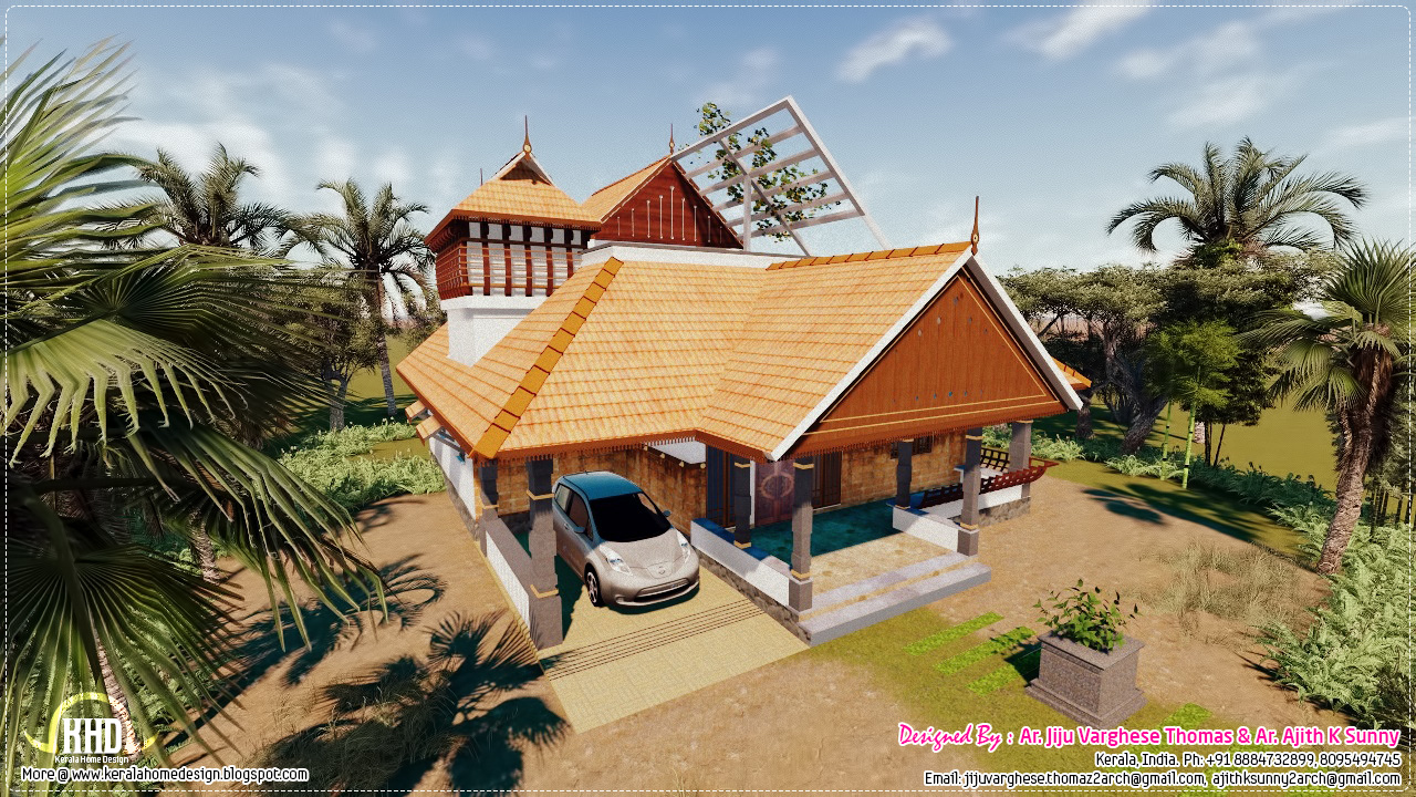Traditional Kerala House In 1200 Sqfeet House Design Plans
