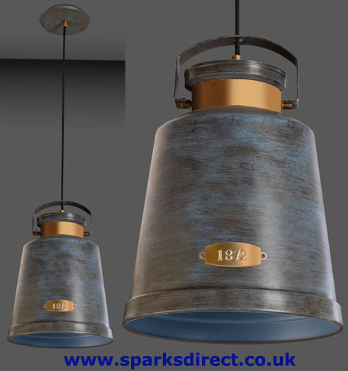 LEDS-C4 Vintage Pendant in Old Grey (La Creu 00-0253-S4-CC)