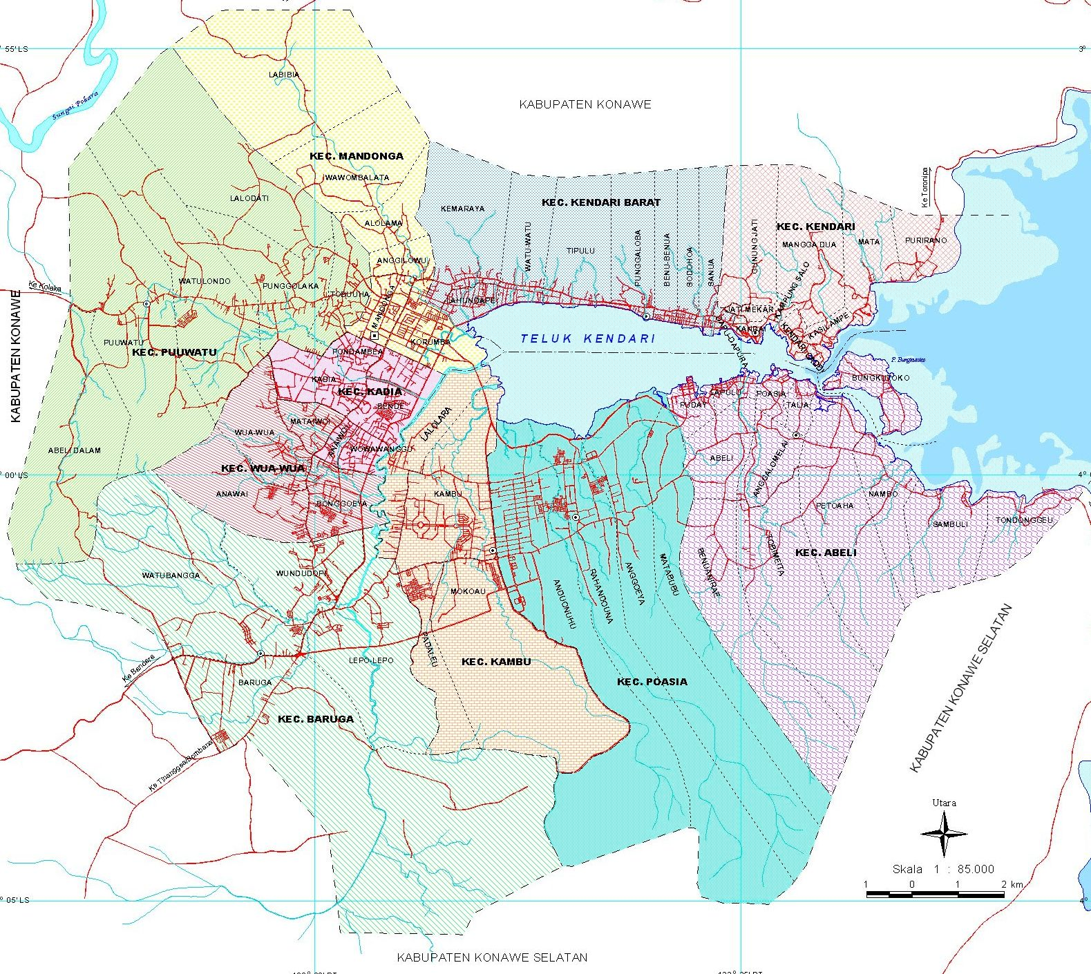 Peta Kota: Peta Kota Kendari