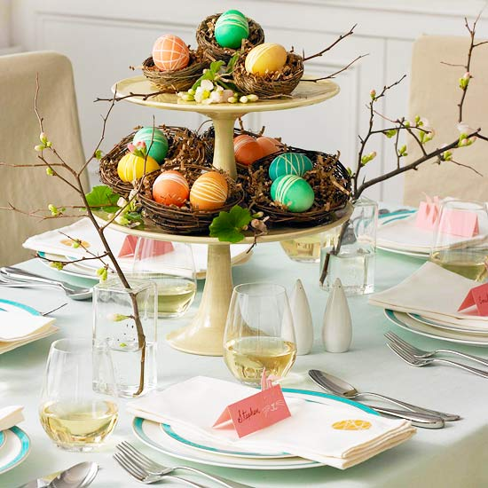 Modern furniture spring 2013 centerpieces and table settings new ideas - Table easter decorations ...