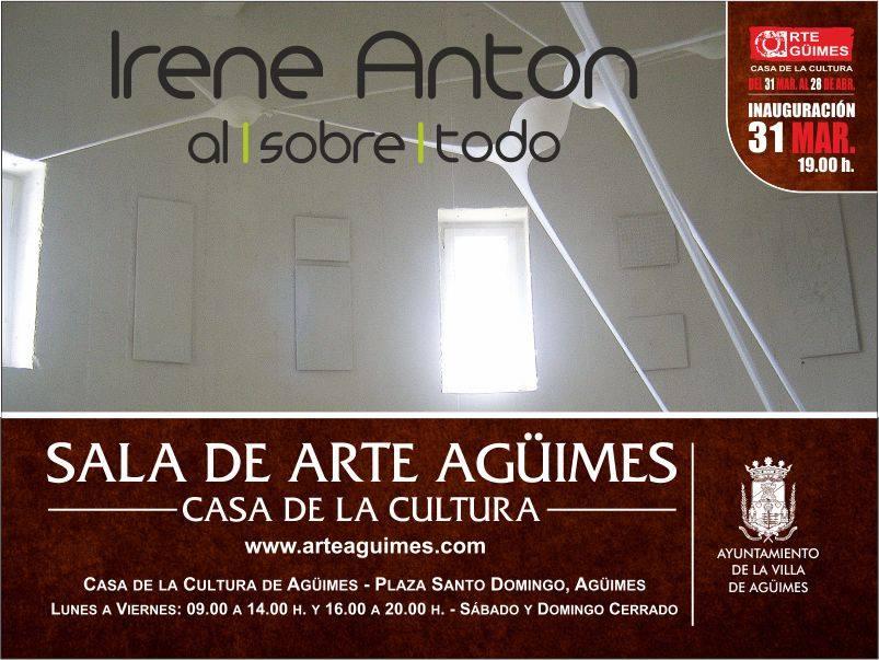 Irene Antón en la Sala de Arte Agüimes