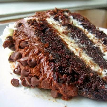 : Chocolate Layer Cake with Cream Cheese Filling and Chocolate ...