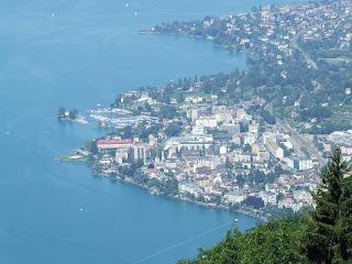 Montreux - vedere din Caux