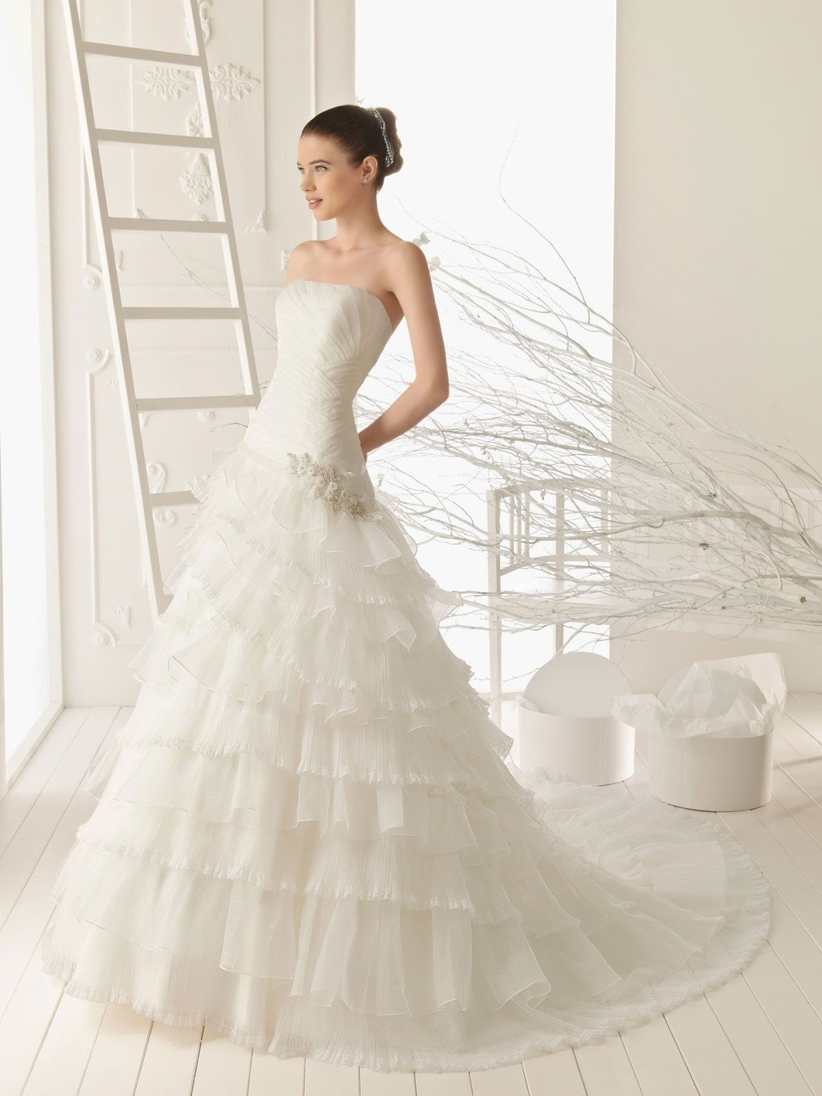 A line wedding dress is the best choice for you for A line skirt wedding dress