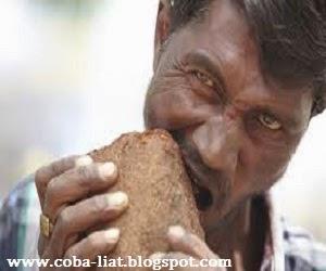 Makan batu bata krikil lumpur