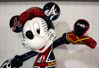Mickey Mouse is a Braves Fan!
