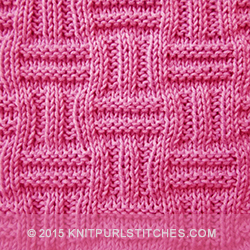 Easy Basket Weave Knit Pattern : Simple Basket-weave Patterns Knit - Purl stitches