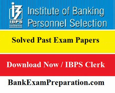 Past Exam Papers for IBPS Clerk 2014