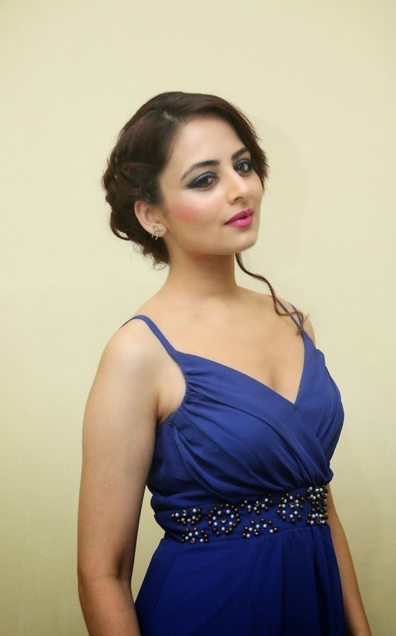 Bollywood Actress Zoya Afroz In Spicy Blue Suit Stills