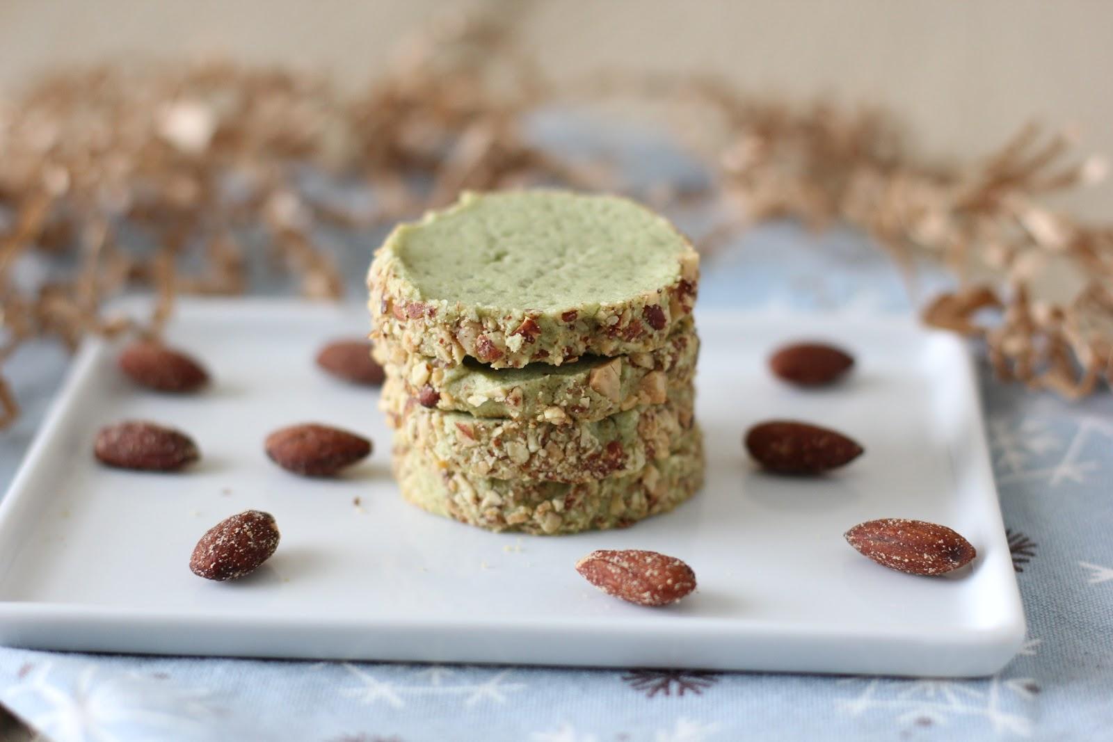 Smoked Almond Matcha Tea Cookies Recipe | Fake Food Free