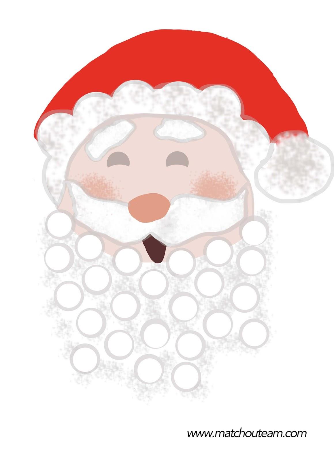 Gommette père Noël