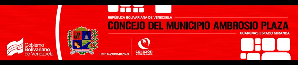 :.: CONCEJO DEL MUNICIPIO AMBROSIO PLAZA :.:
