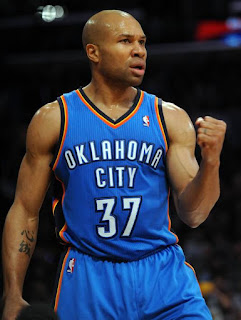 Derek Fisher, Oklahoma City Thunder, basketball, NBA, point guard, bald