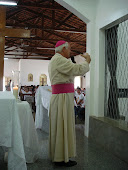 DOM MARIANO NO MOSTEIRO DE SANTA CLARA, FAZ A PREGAÇÃO, NA CHEGADA DOS SÍMBOLOS DA JORNADA MUNDIAL.