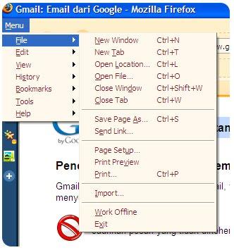 Tiny Menu Firefox Addon