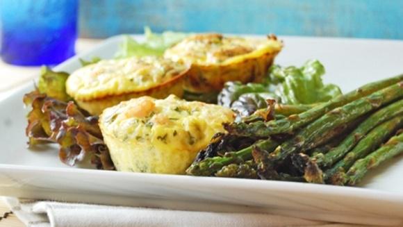 Mini-Quiches Sans Croûte Aux Crevettes