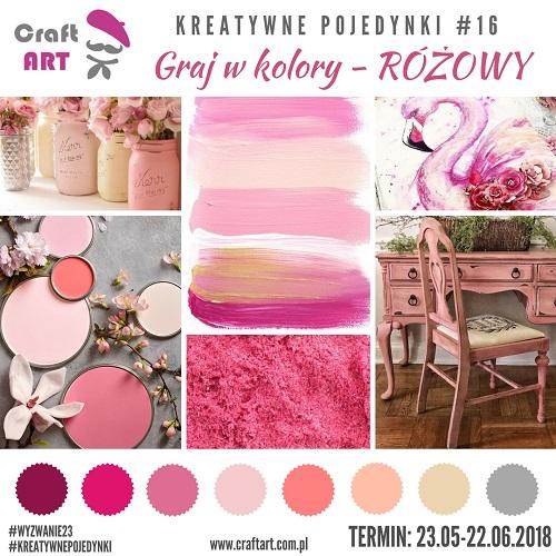 Graj w kolory - różowy