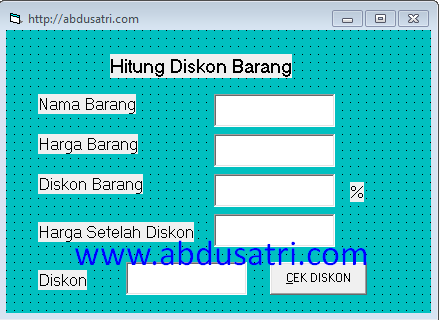 program diskon di VB (visual basic)