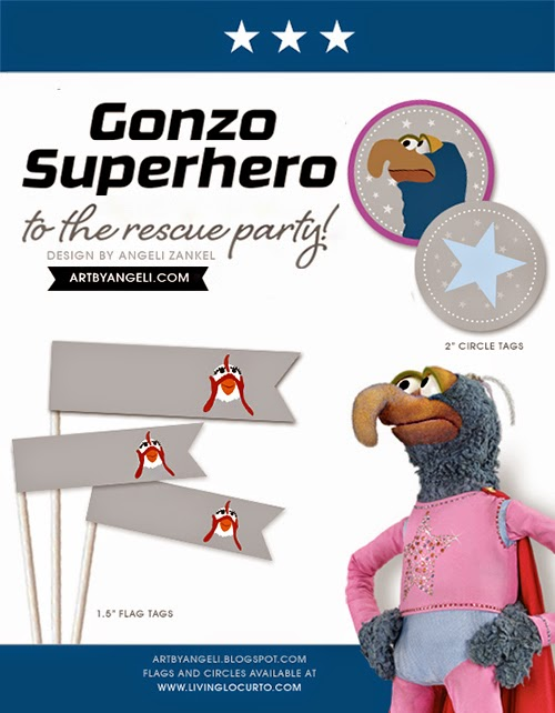 Gonzo Superhero Free Printable Mini Kit.