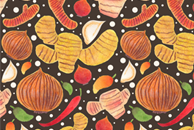 Indonesia Spices Pattern by Haidi Shabrina