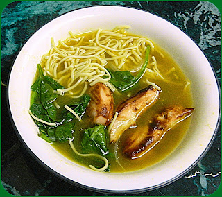 Chinese Barbecue Chicken Soup with Noodles from Bizzy Bakes