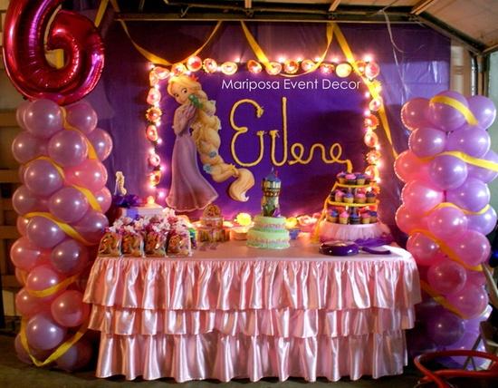 Decoraci n de fiestas infantiles de enredados rapunzel - Como hacer decoracion de cumpleanos ...
