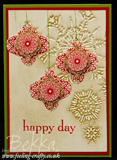Stampin' Up! Happy Day Christmas Card - check out all the cute ideas on this blog!