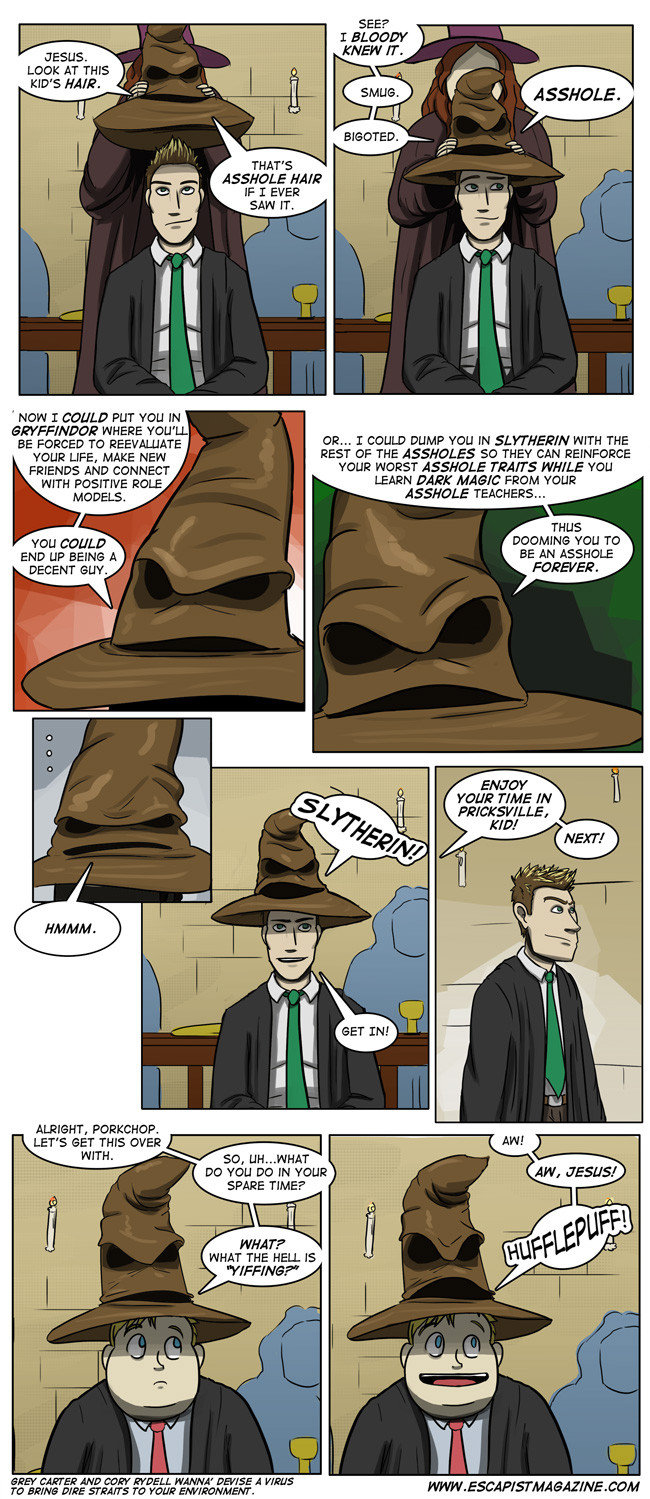 Harry Potter Sorting Hat Funny Pic