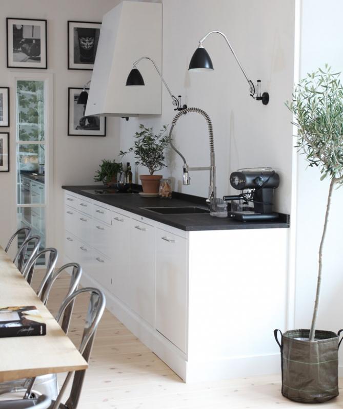 Vintage chic: kjøkken i svart og hvitt / black and white kitchens