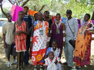 Hanging out with my Maasai brethren