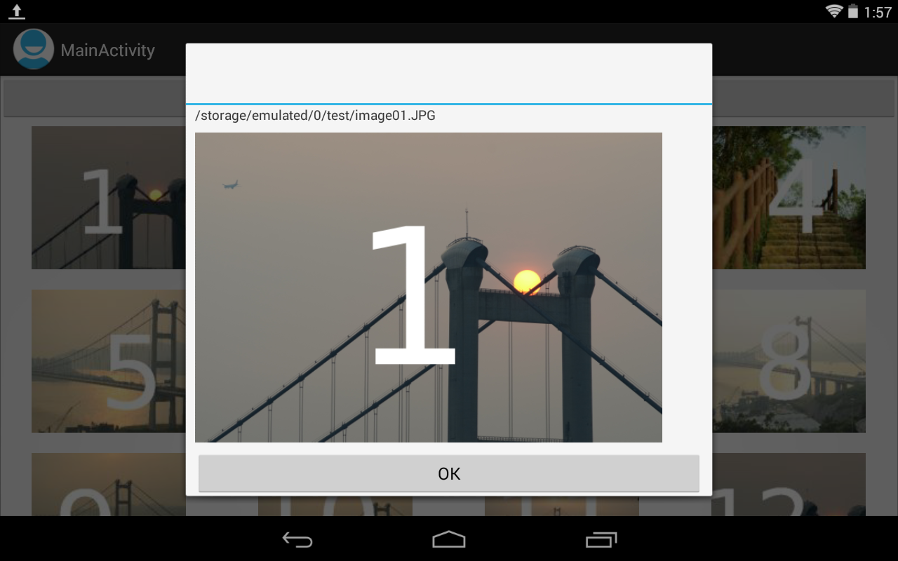 Touch Gridview To Demo Photo