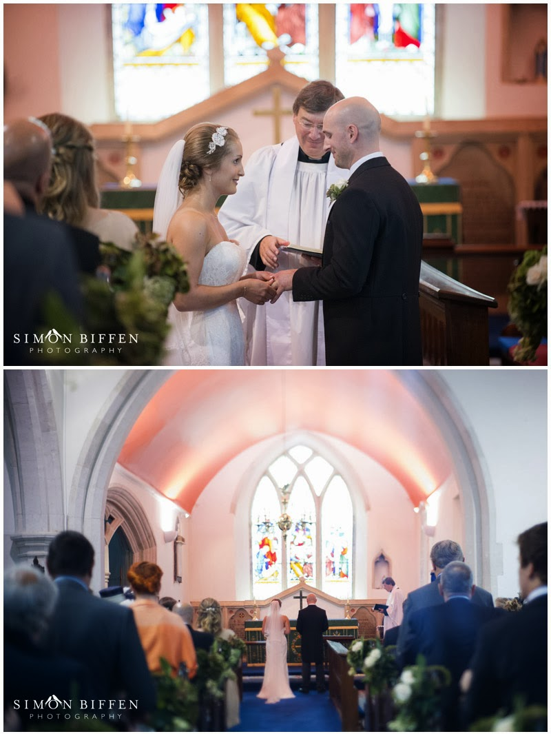 Church wedding ceremony Devon