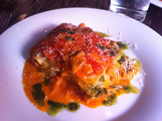 Stitch and Bear - Crab and leek lasagne at Il Primo
