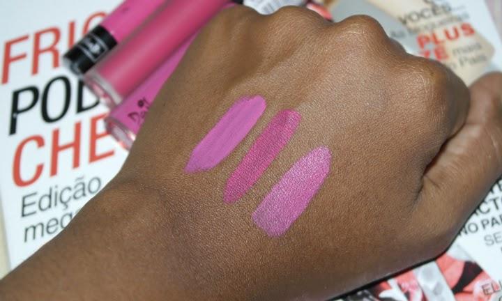 comparação-velvetine-lime-crime-pink-velvet-kat-von-d-backstage-bambi-dailus-pro-batom-liquido-arabesque-2