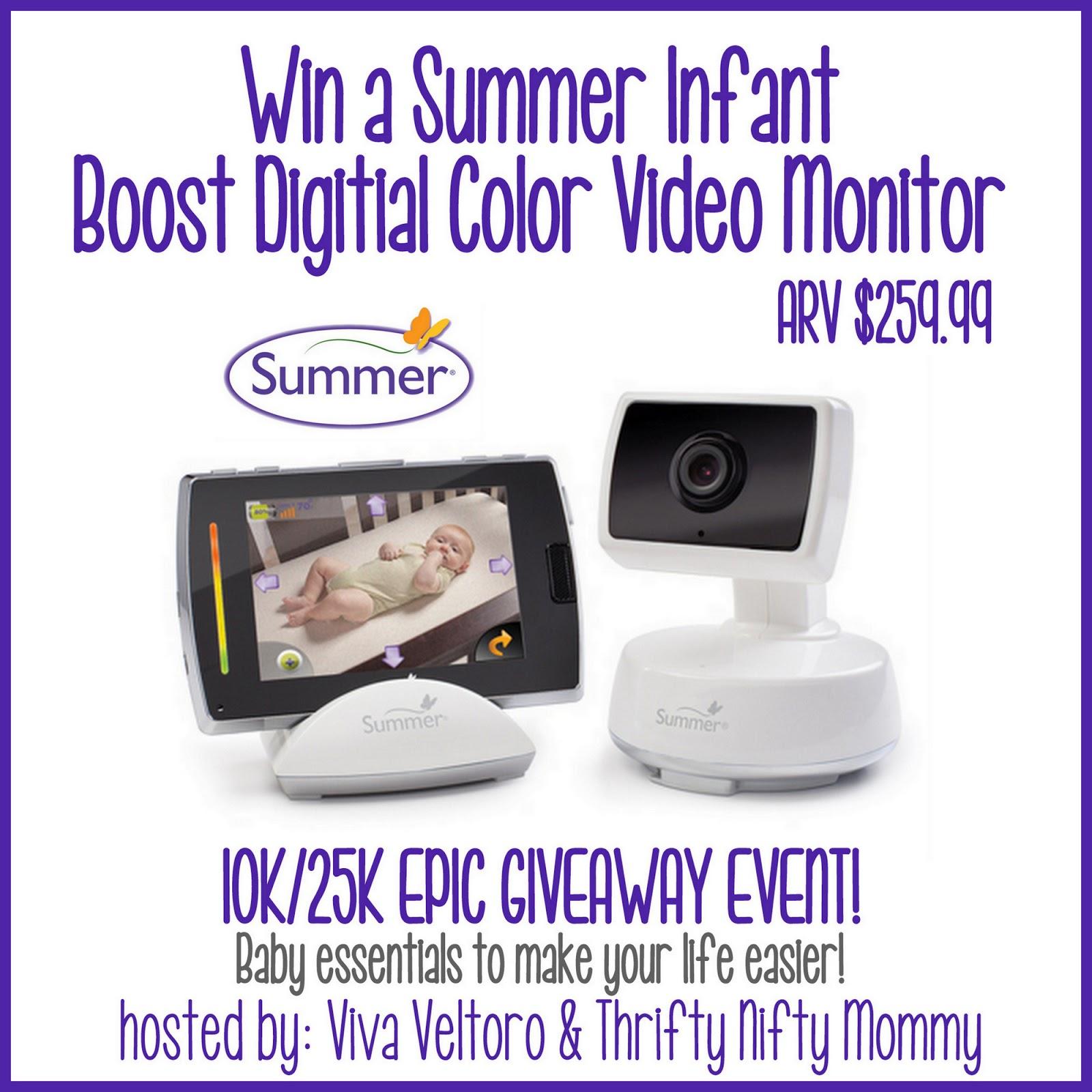 summer infant baby touch boost digital color video monitor giveaway 10k25kepicgiveaway. Black Bedroom Furniture Sets. Home Design Ideas
