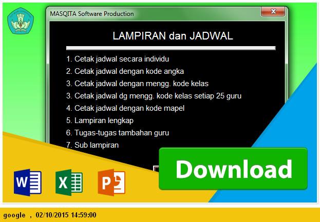 Contoh Aplikasi Jadwal pelajaran SMP Tahun Pelajaran 2015_