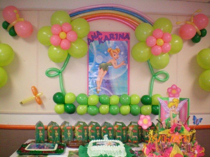 Decoracion tinkerbell para fiestas for Decoracion de pared para fiestas infantiles