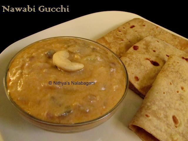 Nawabi Gucchi | Mushrooms in Cashewnut Gravy