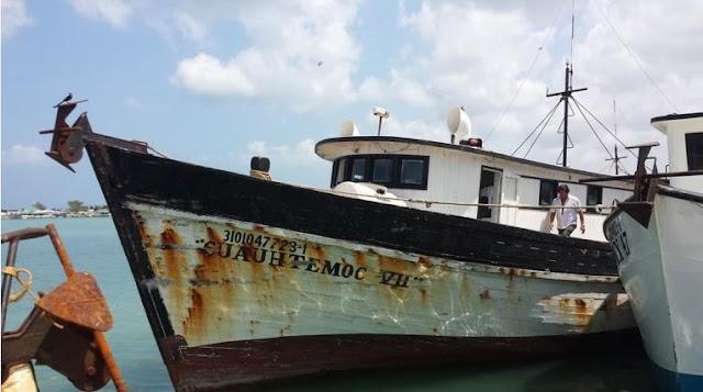 CONAPESCA auxilia a embarcaciones yucatecas