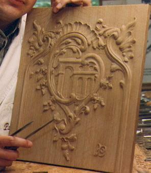 Ornament houtsnijwerk